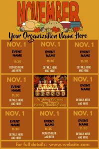 Upcoming Events Calendar - November