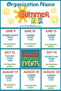 Upcoming Events Calendar Summer Fun