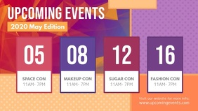 Upcoming Events Colorful Facebook Cover Video