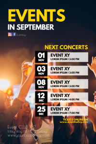 upcoming events concerts Plays Festival next Poster template