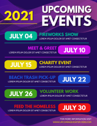 Upcoming Events Flyer (US-Letter) template