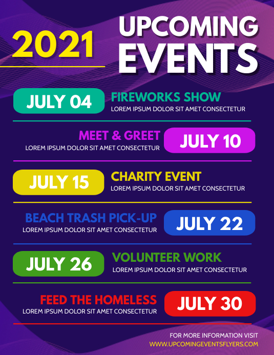 Upcoming Events Flyer (Letter pang-US) template
