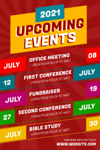 Upcoming Events Plakkaat template