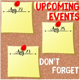 Upcoming Events Instagram Post template