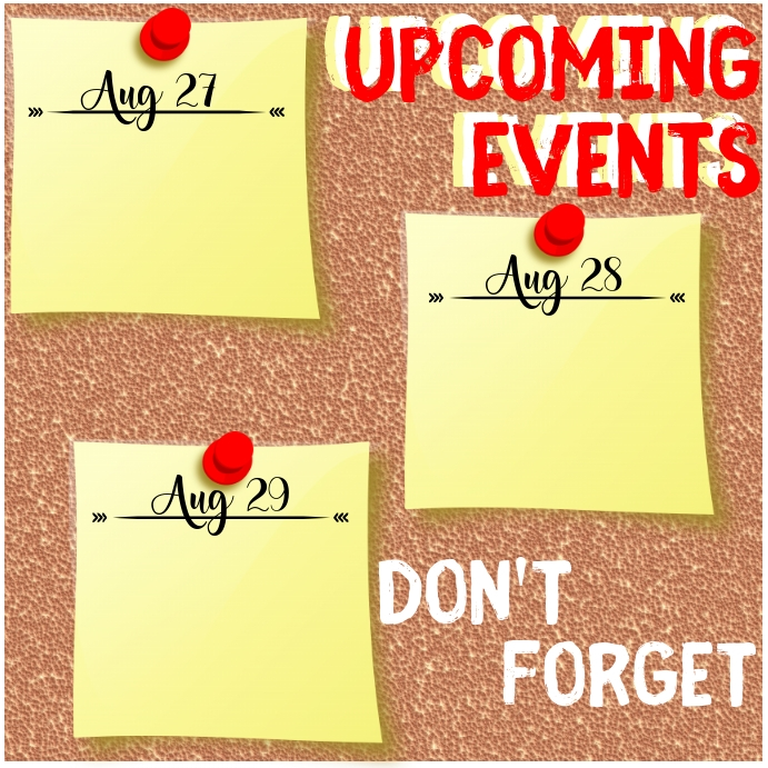 Upcoming Events Publicación de Instagram template