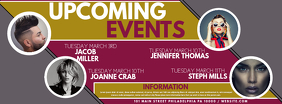 Upcoming events Facebook Facebook-coverfoto template