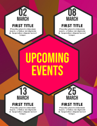 Upcoming Events Flyer