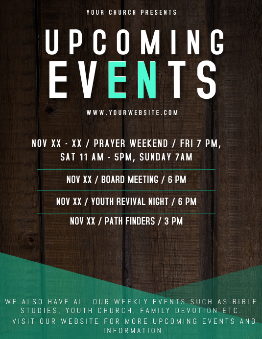 Upcoming Events Flyer Template Postermywall