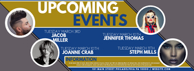 upcoming events Facebook Cover Photo template