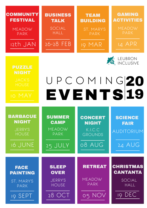 UPCOMING EVENTS FLYER TEMPLATE