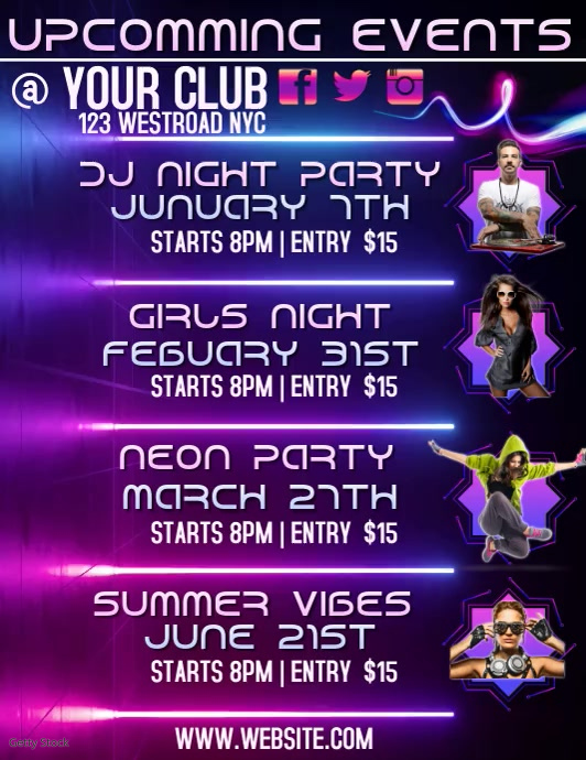 UPCOMING EVENTS FLYER TEMPLATE DIGITAL VIDEO