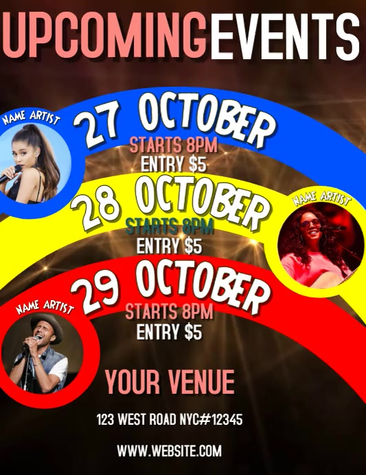 UPCOMING EVENTS FLYER VIDEO TEMPLATE