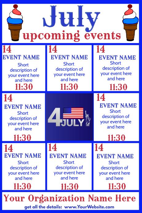 Upcoming Events -Ice Cream