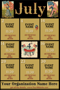 Upcoming Events -July