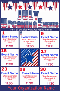 Upcoming Events - July
