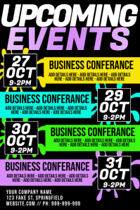 Upcoming Events Poster