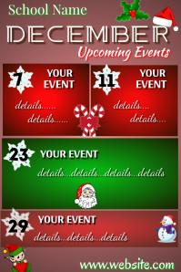 December School Planner Cartaz template
