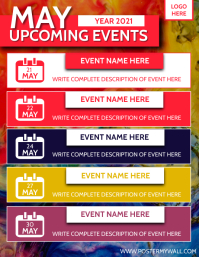 Upcoming Events Schedule Flyer Ad Template Volantino (US Letter)