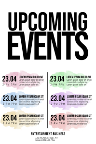 Upcoming Events Schedule Flyer