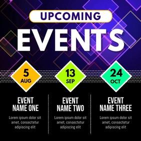 Upcoming Events Schedule Instagram Video