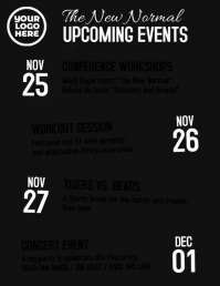 Upcoming events schedule video flyer