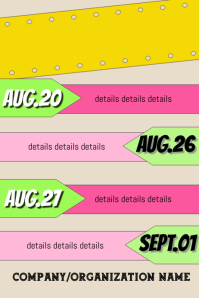 Upcoming Events Template