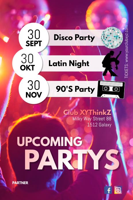 Upcoming Partys events Next Calendar Club Bar