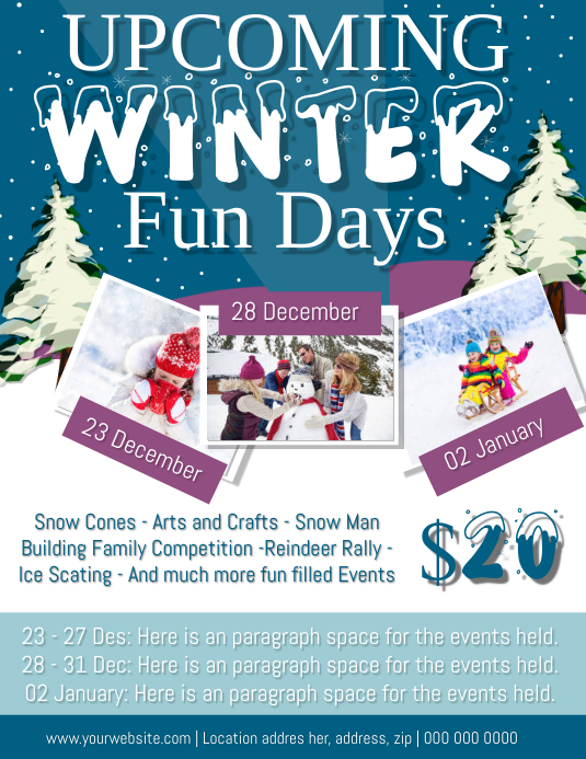 Upcoming Winter Events Flyer