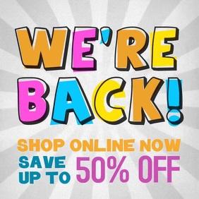 uper sale 50% off shop online video ad