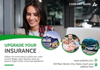 upgrade your insurance postcard template desi Postkort