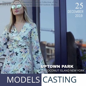 Uptown Fashion Show Ad Square (1:1) template