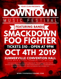 Downtown Music Festival Flyer