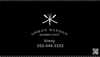 URBAN BARBER BLACK WHITE MINIMAL 名片 template