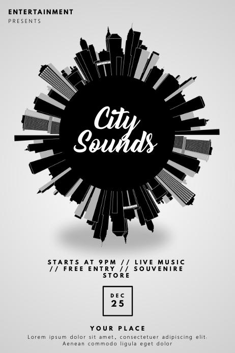 Urban City Club Party Flyer Template Plakkaat