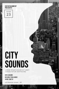 Urban city Party Flyer Template
