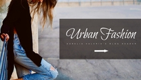 urban fashion blog header Blogkop template