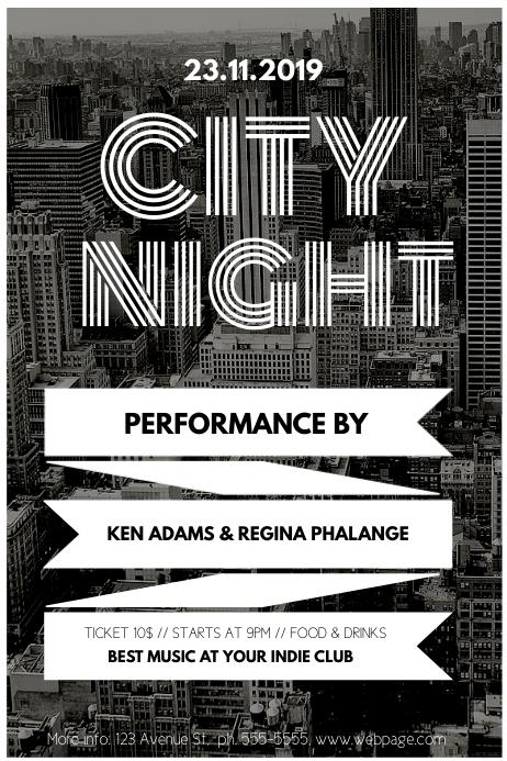 Urban Indie Vintage Event Flyer Template