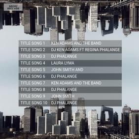 Urban Music Album Back Template