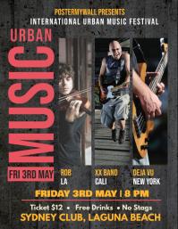 Urban music festival flyer