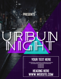URBAN NIGHT PARTY AD FLYERS
