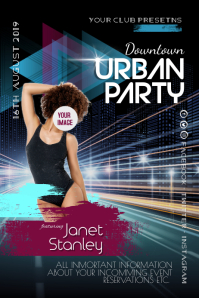 Urban Night Party Dj Event Poster Flyer Plakkaat template