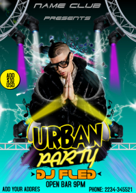 URBAN PARTY A4 template