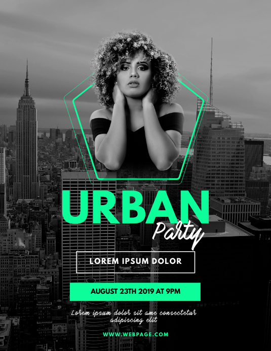 Urban Party Flyer Template Pamflet (Letter AS)