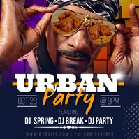 Urban Party Video & Audio Poster template