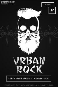 Urban Rock Music Flyer Template
