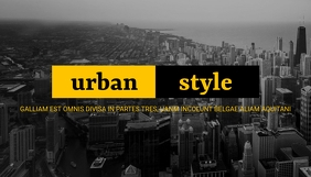 urban style blog header design template Заголовок блога
