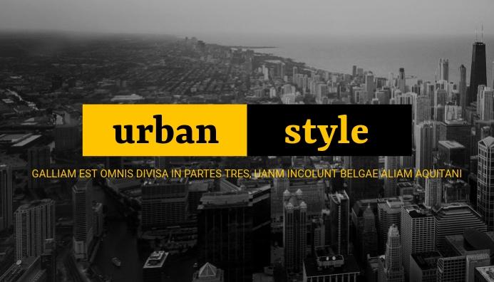 urban style blog header design template