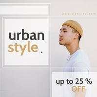 urban style fashion advertisement Publicação no Instagram template