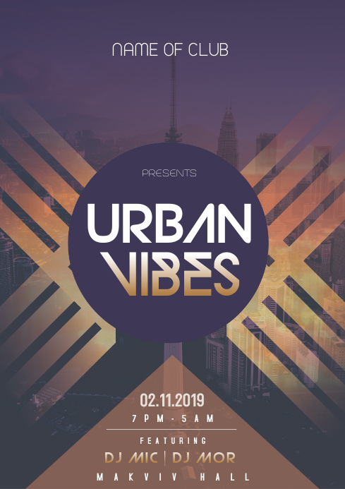 Urban Vibes Flyer A3 template