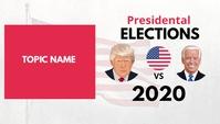 US Elections 2020 Cabeçalho de blogue template